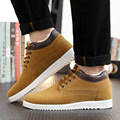2017 Men Casual Shoes Fashion Leather Cotton Shoes For Man Winter High Top Sneakers Mens Flat Skate Shoes Chaussure Homme O1982