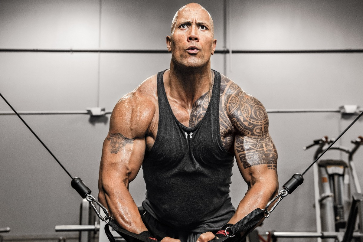 Us 7 19 42 Off Dwayne Johnson Machine The Rock Gym Workout Tattoo Pyr184 Fabric Poster Custom Print For Wall Decor Room Decor Home Decoration In