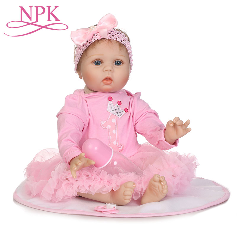 NPK 55cm Fashion Baby Dolls Reborn Handmade Full Body Silicone New Born Lovely Girl Babies in pink hoodie Doll For Kids ToysNPK 55cm Fashion Baby Dolls Reborn Handmade Full Body Silicone New Born Lovely Girl Babies in pink hoodie Doll For Kids Toys