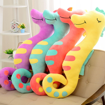 40-120cm Large size Sea horse Plush Toys baby Grownups Pillow Sea horse Cloth doll Boyfriend Cushion birthday  gift