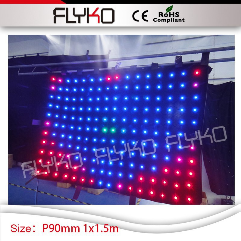 led christmas lights P9 club decoration 1m*1.5m decorative lighting xxx image photos led video curtain