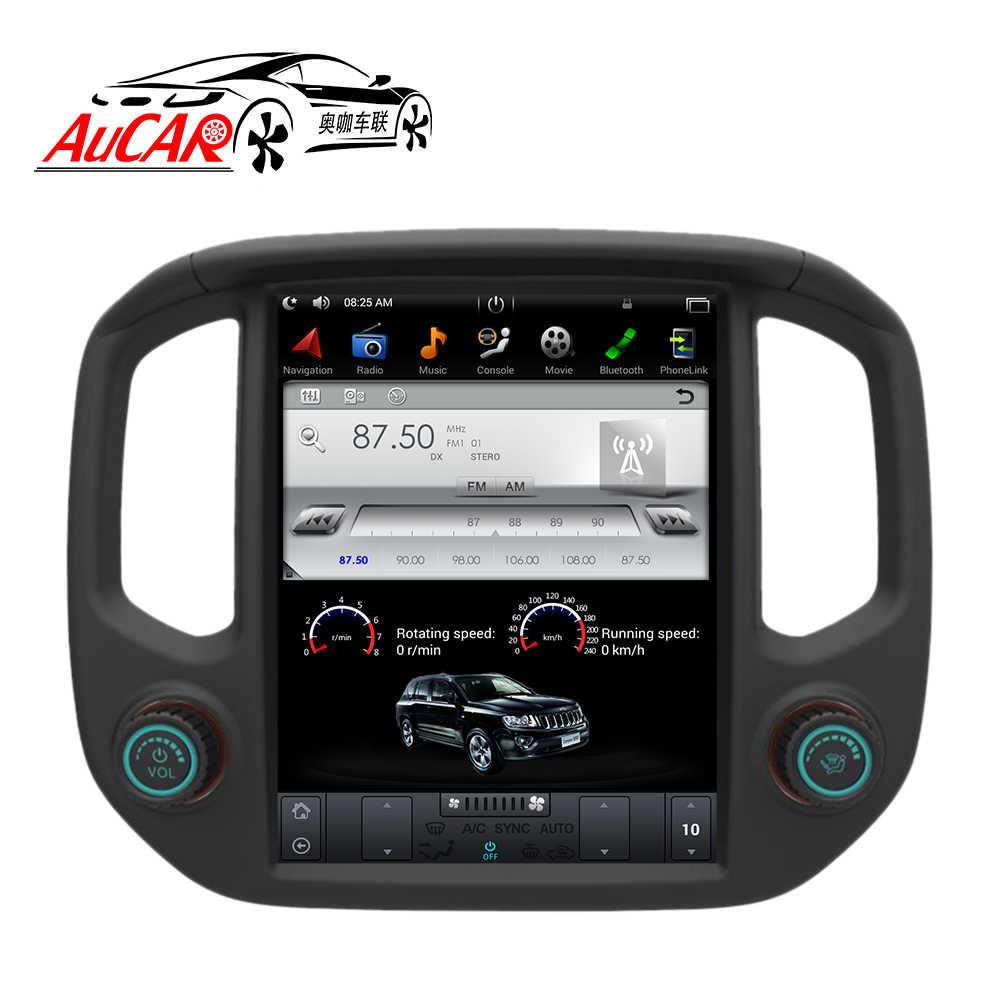 medium resolution of aucar tesla style 12 1 android 6 0 car dvd for gmc canyon silverado colorado 2015