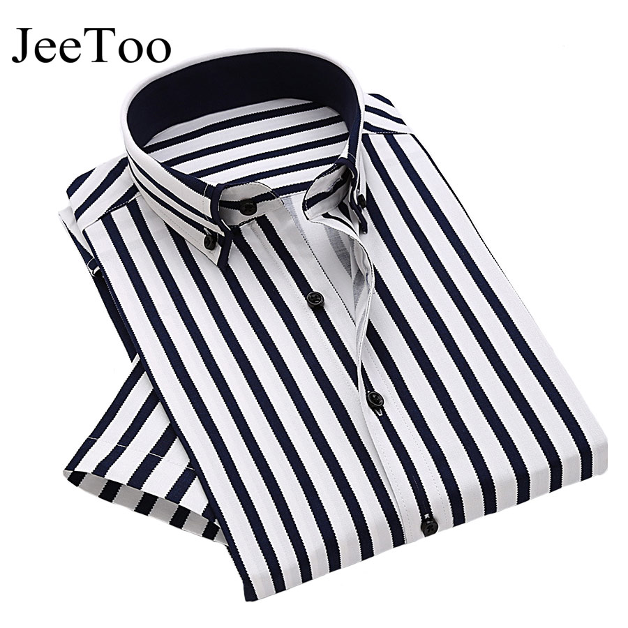Black and white striped mens shirt t shirts design concept for Mens red and white striped dress shirt