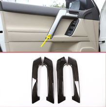 4pcs Black Ash Wood Car ABS Interior Door Handle Trim For Toyota Land Cruiser Prado FJ150 150 2010-2018 Auto Accessories стоимость