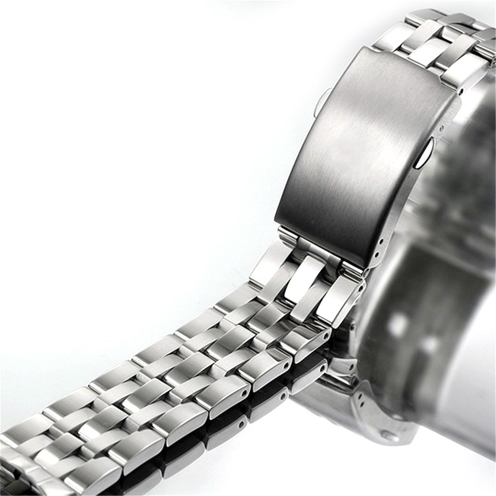 19mm Stainless Steel Strap Replace Curved End Metal Bracelet Strap watchband Watchstrap Watch Parts for TISSOT <font><b>PRC</b></font> <font><b>200</b></font> T17 T461 image