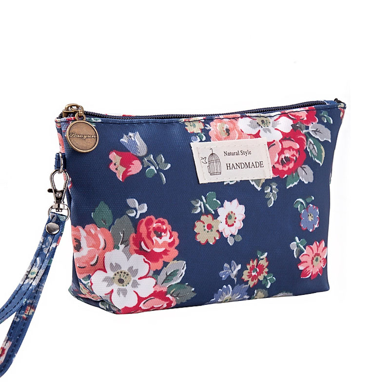 Pouch Makeup-Bag Jewelry-Organizer Travel Case Toiletry-Bag-Brush Printing Waterproof
