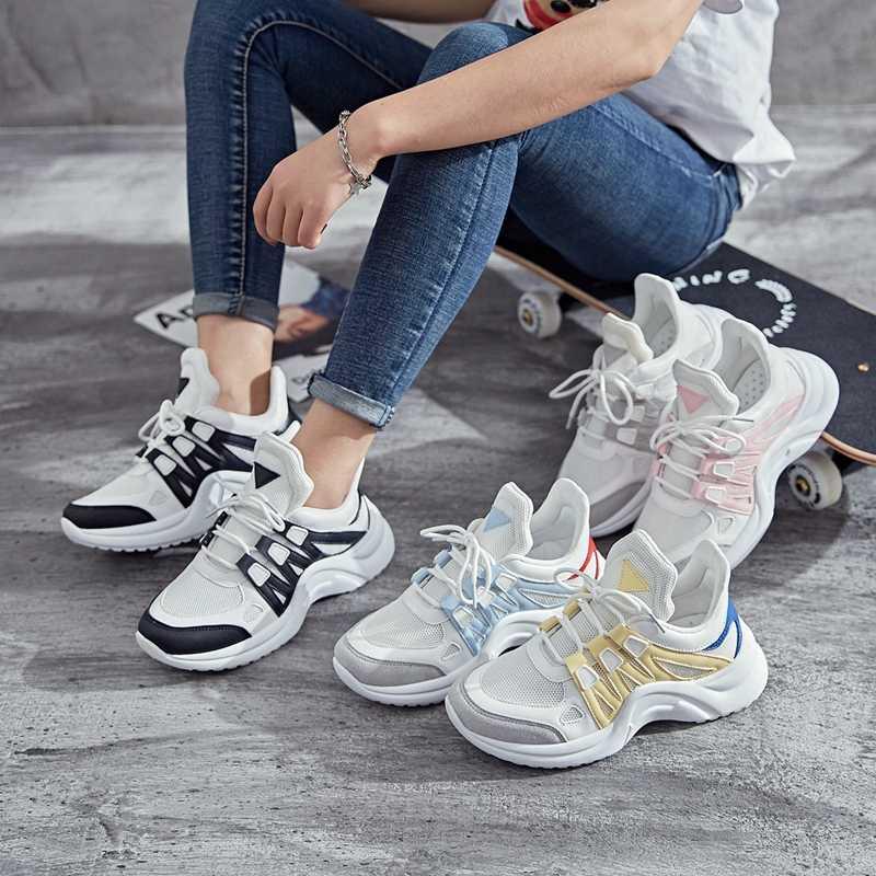 92d13c6ac7 2019 filas Zapatos Zapatillas de deporte Zapatos de las mujeres Zapatillas  de deporte Fandei libre transpirable