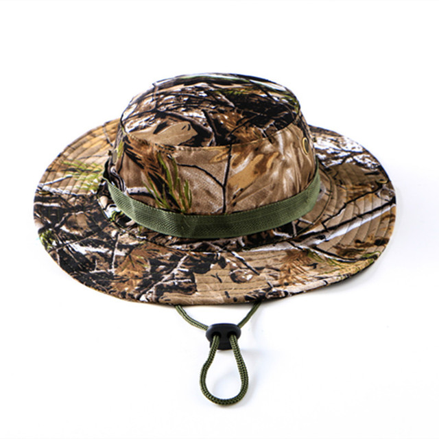 ada30085f04 Bucket Hats Outdoor Sport Snapback Caps Jungle Tactical Cap Airsoft Sniper  Camouflage Bonnie Hat Casual Gorras Adjustable