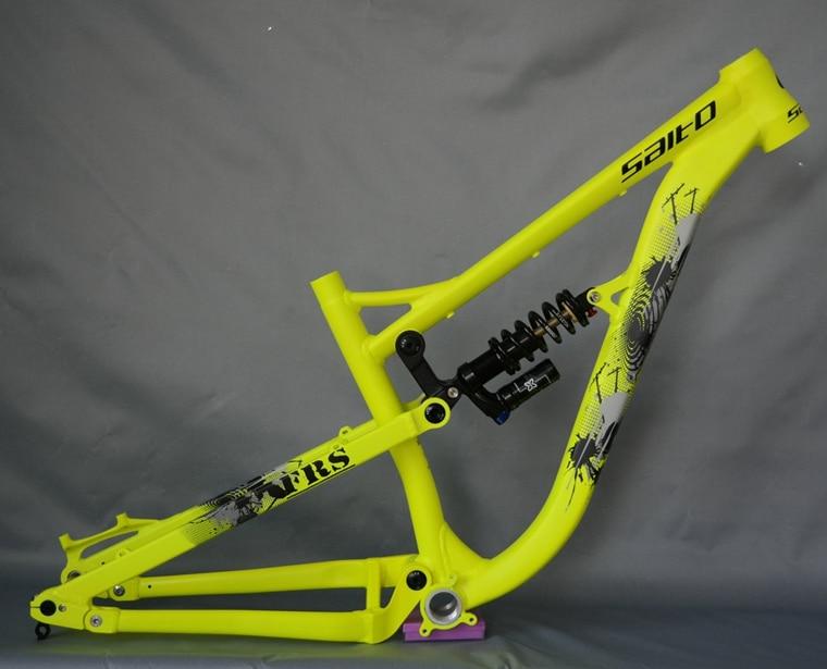 SALTO FRS bicycle frames full suspension bike frame 26ER shock absorber aluminum Alloy downhill soft tail frame