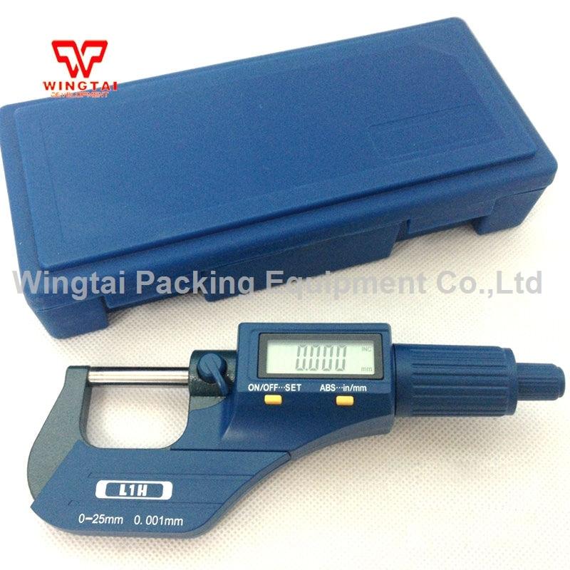 Korea Digital Outside Micrometer 0.001mm Resolution 0~25mm Micrometer Micron Thickness Gauge Measuring Tool XC04