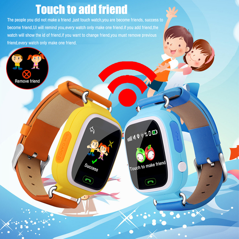 Q90 GPS Touch Screen WIFI Smart Watch Child SOS Location Finder Device Tracker Kid Safe Anti