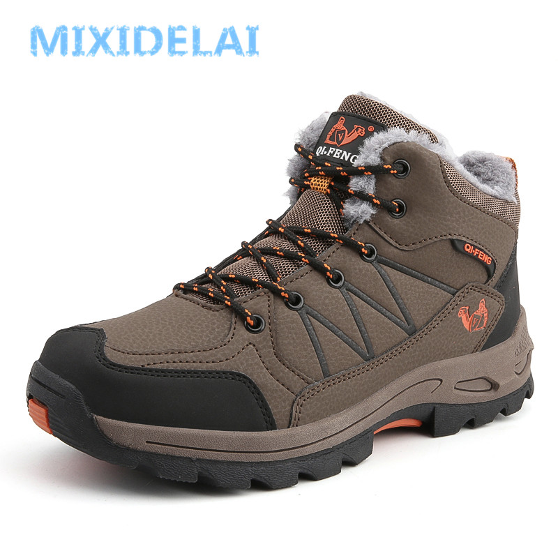 MIXIDELAI Winter Plush Warm Snow Boots For Men Sneakers Male Shoes Adult Non Slip Rubber Casual Waterproof Unisex Ankle Boots