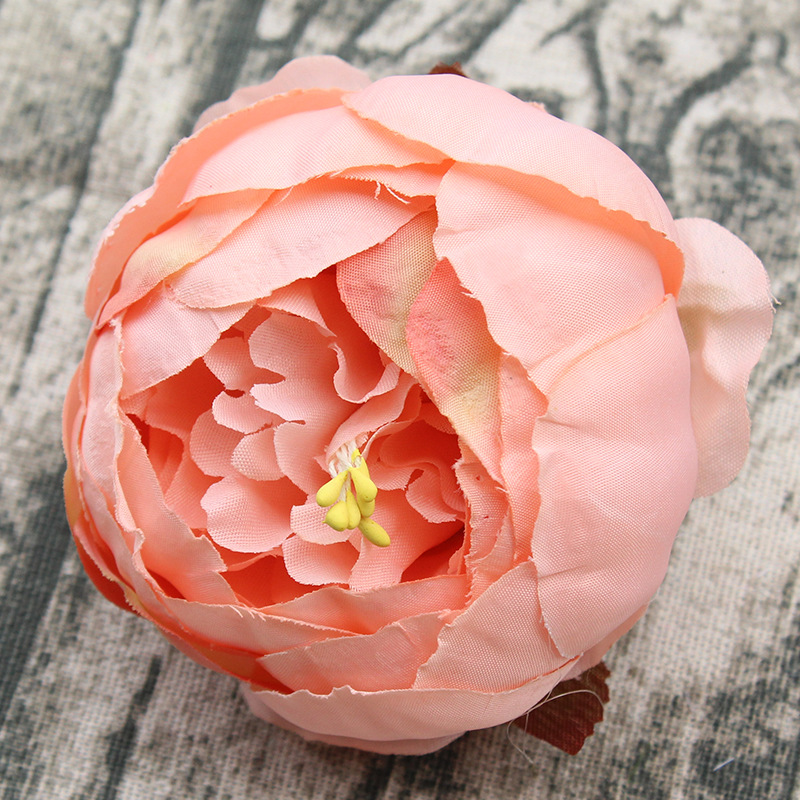 9CM Artifical Flowers Peony Rose Head Handmade Silk Flowers for DIY Hair Garland Bride Bouquet Wedding Decoration