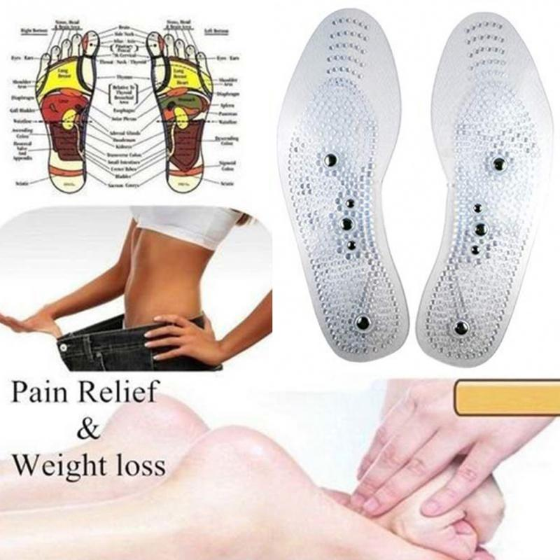 Foot massager Magnetic Therapy Thener foot Massage Pads Clean Health Slimming Pain Acupuncture Insoles Shoe mat Foot Care Pad 8