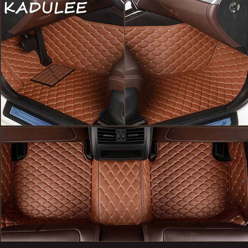 KADULEE PU leather car floor mat for Ford F150 2011 2012 2013 2014 2016 2017 2018 Custom auto foot Pads automobile carpet cover