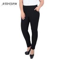 Alto estiramiento más tamaño 5xl 6xl mujeres lápiz Pantalones skinny alta cintura Pantalones casual Leggings señoras Oficina Pantalones