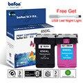 Befon повторно изготовленный картридж 650XL для замены hp 650 hp 650 XL для Deskjet 1015 1515 2515 2545 2645 3515 4645 принтера