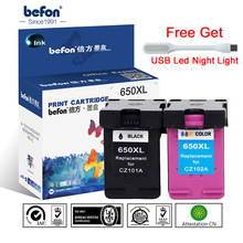 befon Re-Manufactured 650XL Ink Cartridge Replacement for HP 650 HP650 XL for Deskjet 1015 1515 2515 2545 2645 3515 4645 Printer