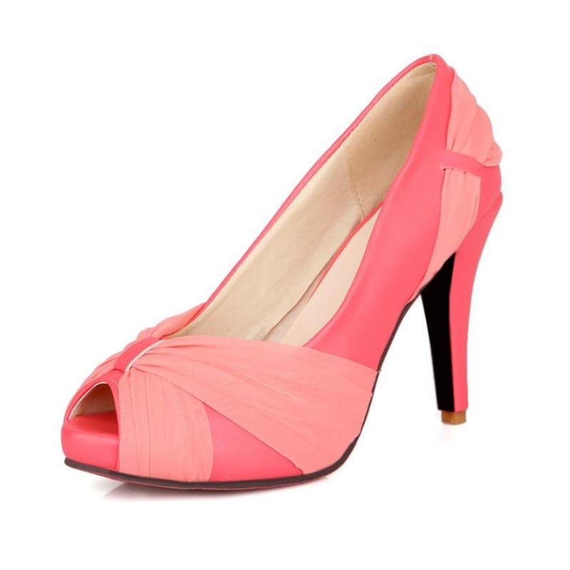 Women's Heel Peep Toe Dress Free Shipping High Shoes Wedding f6Yb7yg