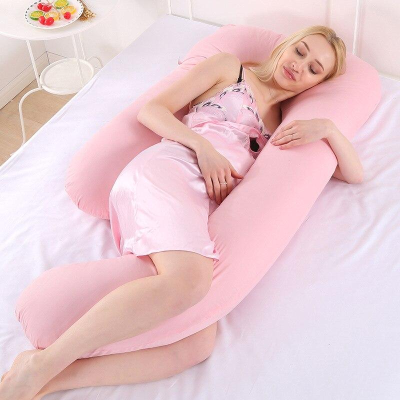 Дорожные аксессуары Подушка кровать полной длины подушку для беременных Для женщин удобные Беременность u-образная Подушка длинные сна бер...