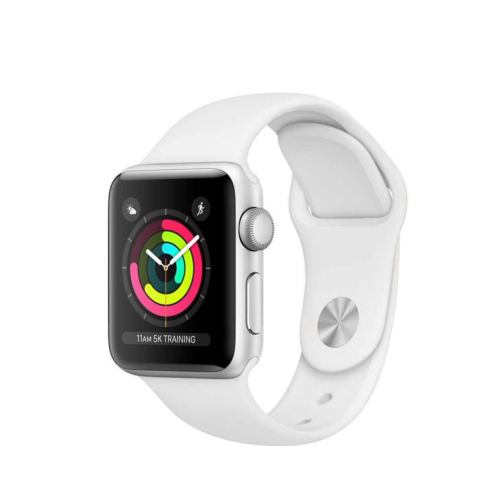 Apple Watch Watch Series 3, OLED, Touchscreen, GPS (satellite), 18 h, 26.7 g, Silver