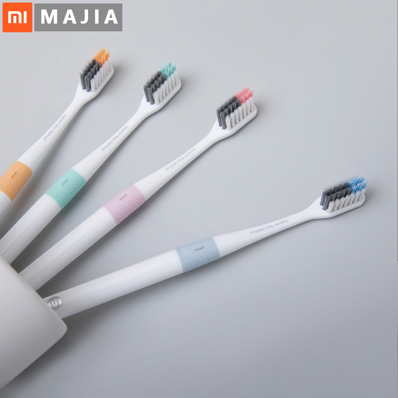 Xiaomi Doctor B Tooth Mi Bass Method Sandwish-bedded better Brush Wire 4 Colors Including 1 Travel Box For xiaomi smart home(China)