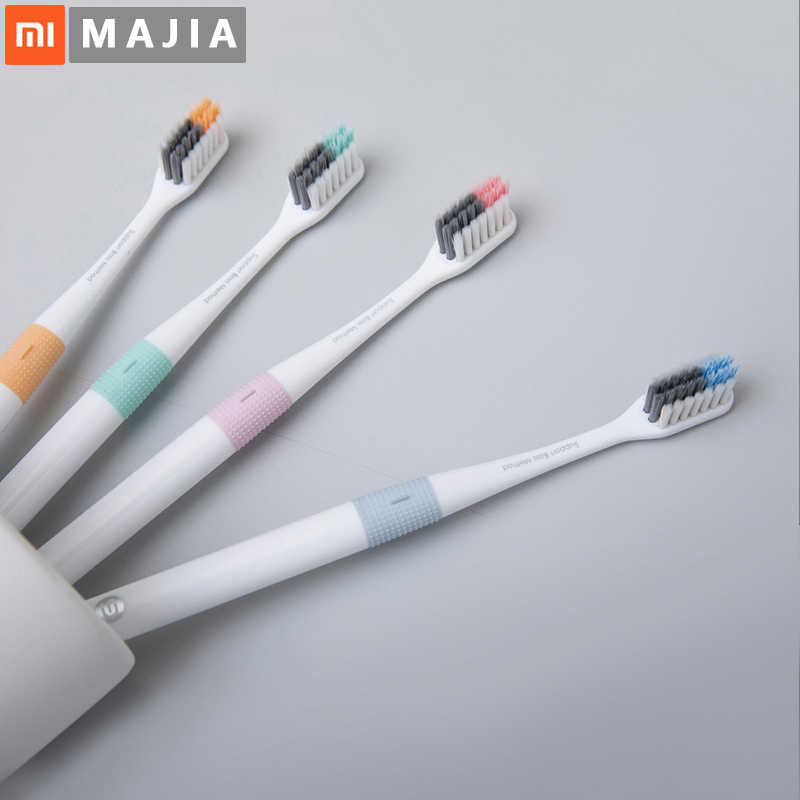 Зубная щетка Xiaomi Doctor B Bass Method Sandwish better Brush Wire 4 вида цветов включая 1 дорожную