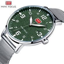 b8201c6cefb9 Hombres relojes de lujo Top Brand 2018 nueva moda de negocios de cuarzo  reloj militar impermeable cara verde banda de acero inox.