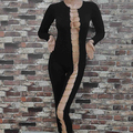 New Arrival Women Sexy Gothic Metal Bandage Overall Catsuit Jumpsuit Playsuit Club Wear