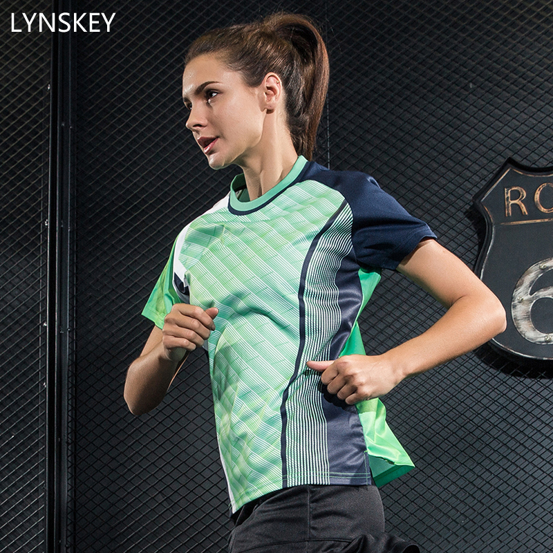 LYNSKEY Womens Tennis Shirt Badminton Short T-Shirts Table Tennis jersey Thin Breathable AT DRY Sports Tops