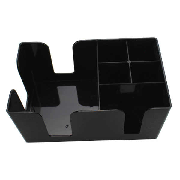 Hot Bar Caddy, Black, Plastic Bar paper straw suction box