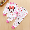 2016 Kids baby girls clothes sets Cute Minnie children's winter clothing sets 100% cotton kid pajamas baby girls clothing set