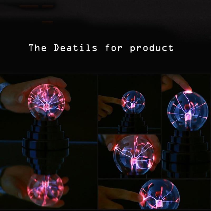 Plasma Ball Lamp Light Touching Sensitive Nebula Sphere Globe Novelty Toy SKD88