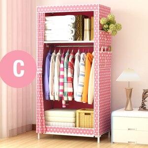Image 4 - ตู้เสื้อผ้าแบบเรียบง่ายนักเรียนหอพักเดี่ยวตู้เสื้อผ้าตู้เสื้อผ้า Finishing ตู้เก็บเหล็กตู้เสื้อผ้า