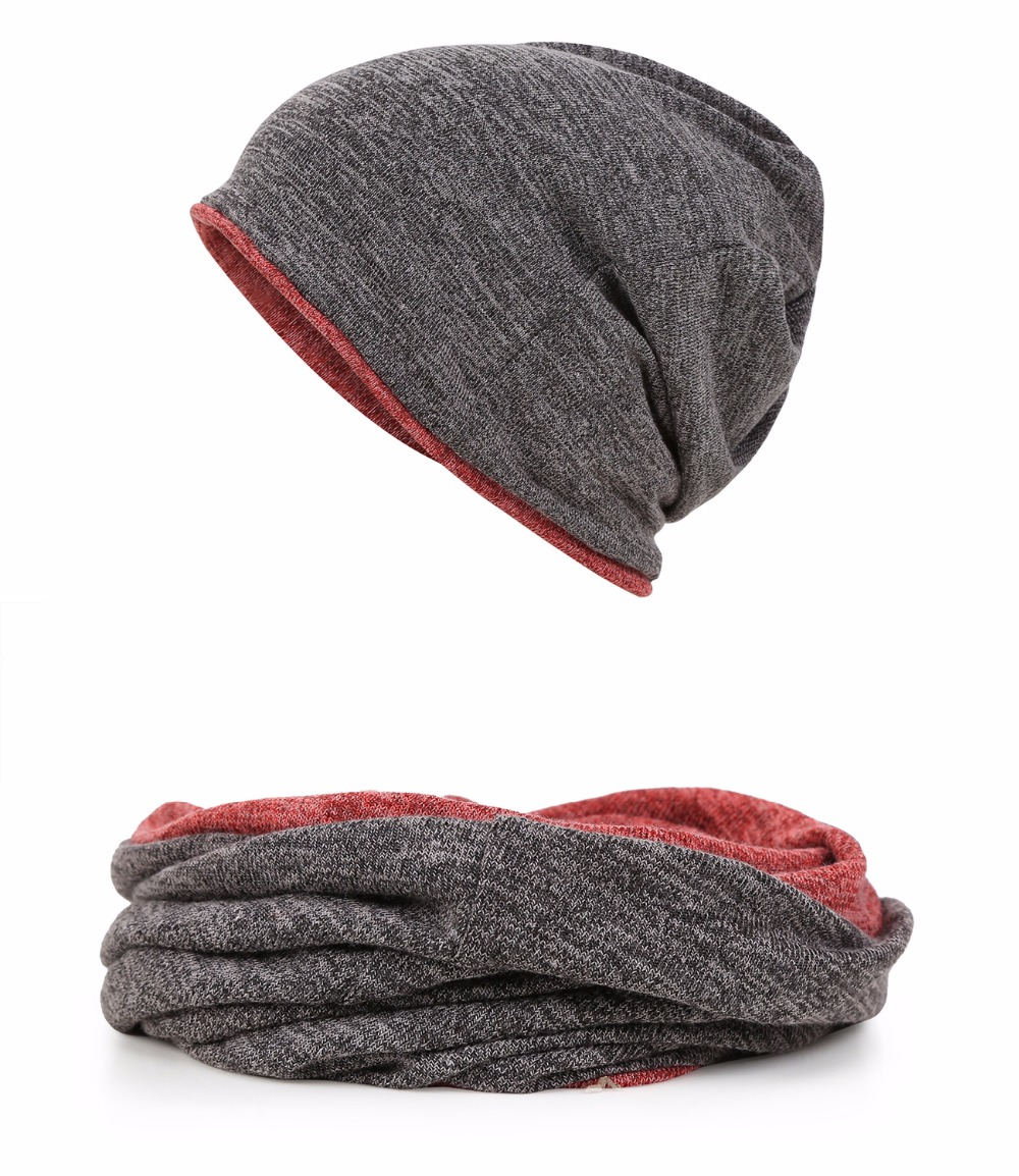 9419a3693ed05 Beanie for Men Women Baggy Skull Cap Slouchy Winter Warm Hat Reversible  Knit Ski Headgear Multifunction 3 in 1 Scarf Face mask-in Hiking Caps from  Sports ...