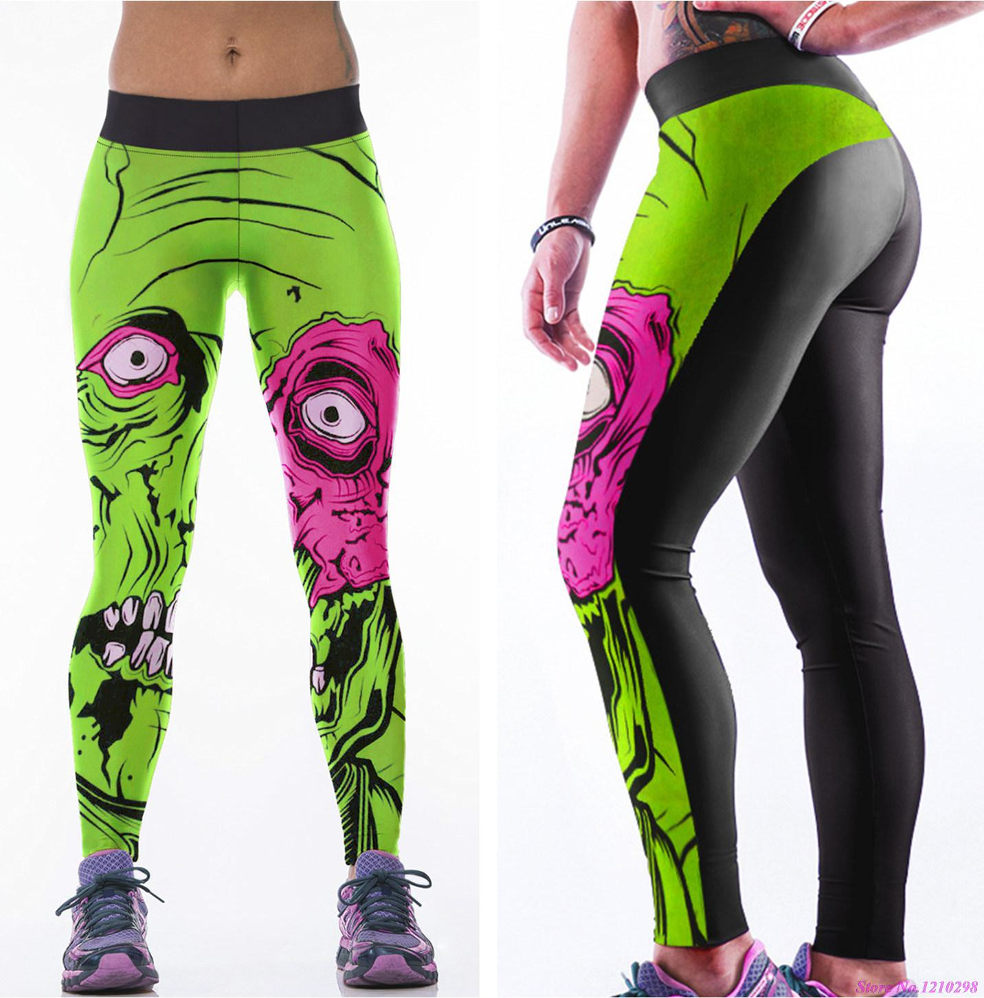 Jogging Vs Running Speed Plants Vs Zombies Yoga Pants Green Women Sports Running