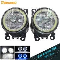 Buildreamen2 Car Styling LED Light 4000LM Fog Light Angel Eye Daytime Running Light DRL 12V For Acura TSX 2011 2012 2013 2014