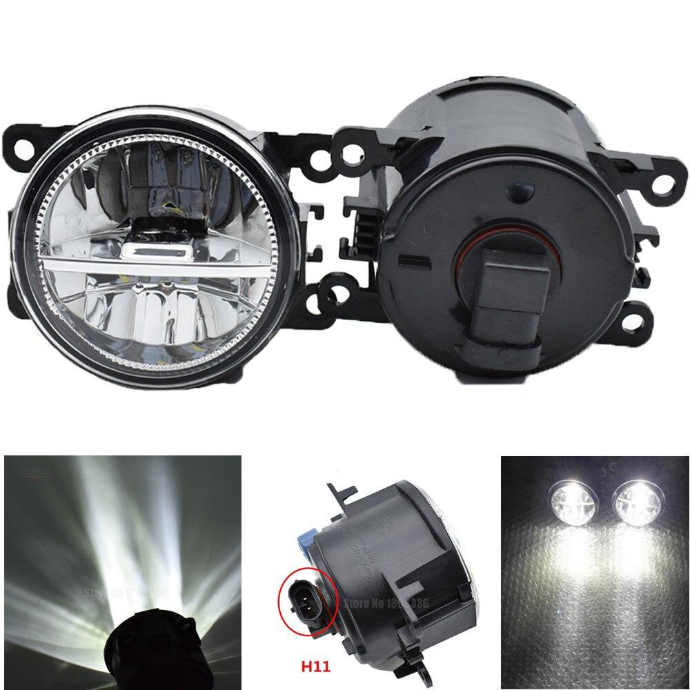 Luces antiniebla delanteras LED para Peugeot 307 CC 3B Convertible Auto lámpara derecha/izquierda estilo de coche H11 luz halógena 12V 55W montaje de bombilla