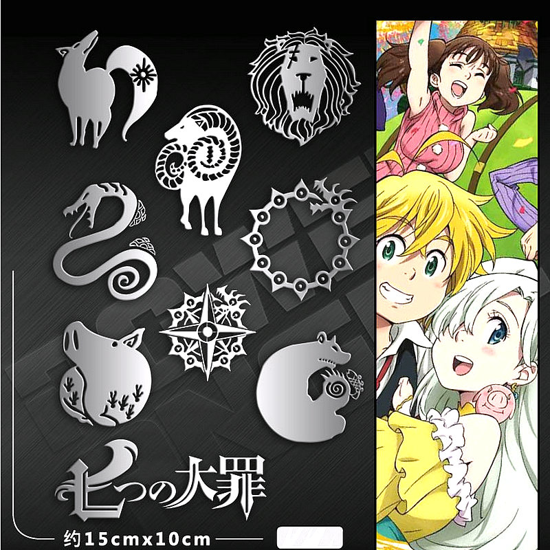 The Seven Deadly Sins Luxury Mobile Phone Laptop DIY Anime Sticker For Kids
