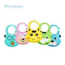 HIMIPOPO Baby Feeding Bibs Waterproof Lunch Bibs Silicone Baby Newborn Cartoon Baberos Bib Aprons Bebe Bibs Self Feeding Care