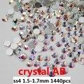 Marca strass Material de AAA cabochão 1440 pcs ss4 1.5 - 1.7 mm cristal AB Rhinestone Diy Nail Art pedra