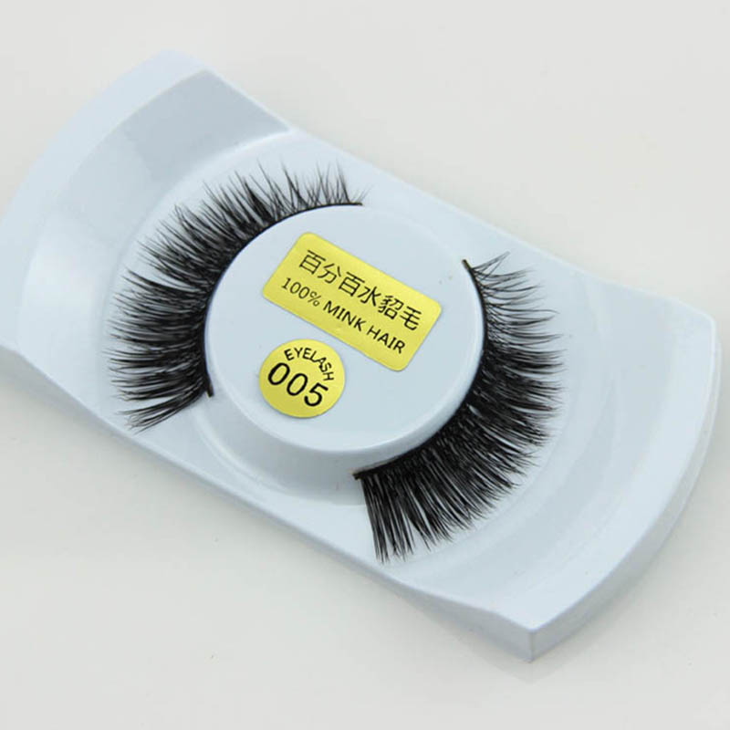 New 1 Pair False Eyelashes <font><b>Mink</b></font> Eyelashes Thick Faux Lashes Handmade 3D Eyelash Extension Beauty <font><b>Nude</b></font> Look Makeup Tools 2017