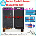 Para sony xperia z3 mini telefone móvel original display lcd + Z3 Compact D5803 D5833 alta qualidade da Tela de Toque + adesivo + ferramenta
