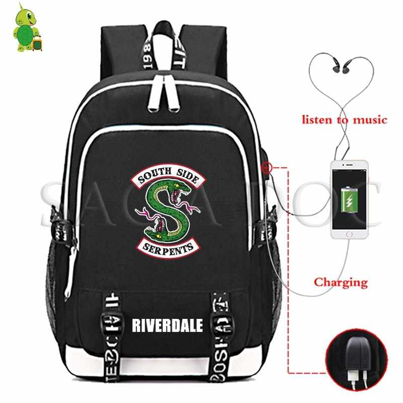 RIVERDALE South Side Multifunction Backpack USB Charging Laptop Backpack Teenagers Boys Girls School Bags Casual Travel Rucksack