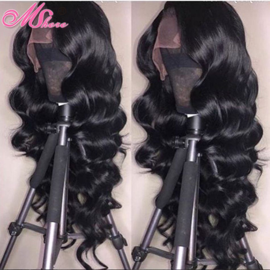 Mshere Body Wave Lace Front Human Hair Wigs Brazilian 13x4 Lace Front Wig With Baby Hair