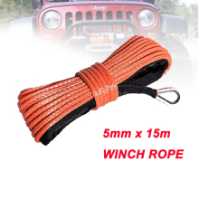Uhmwpe-Rope Winch-Lines Sheath Car-Accessories Synthetic with 5mm-X-15m High-Quality