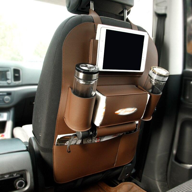Asiento de cuero Asiento trasero Plegable Bolsa de almacenamiento - Accesorios de interior de coche - foto 2