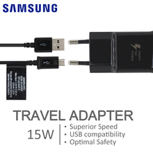 Samsung Original Fast Charger Travel Adapter EU US 9V/1.67A Quick Charge USB 1.2M Cable For Galaxy S6 S7 S8 Edge Note 4 5 6 7 8