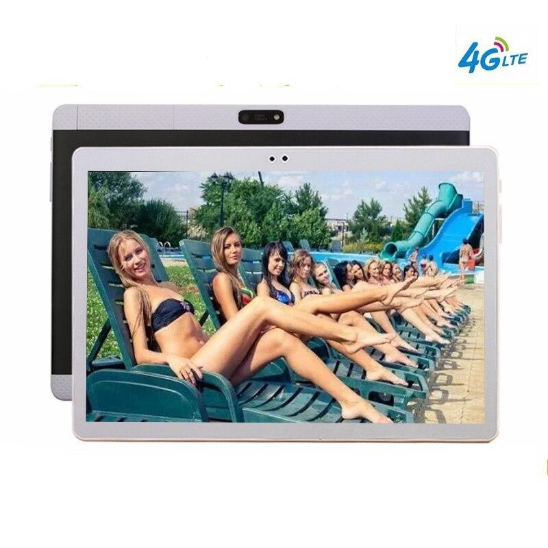 10.1 Android 7.0 WIFI 4G mobile smart tablet 10 Core 128GB ROM dual SIM dual camera 8MP 1920x1200 Google Bluetooth GPS tablet мтс smart surf 4g dual sim lock black