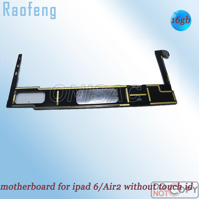 Raofeng  wifi version install IOS system motherboard for Ipad 6/ Air 2 without touch id mainboard  32GB Unlocked Full function|motherboard motherboard|motherboard wifi|motherboard 16gb - title=